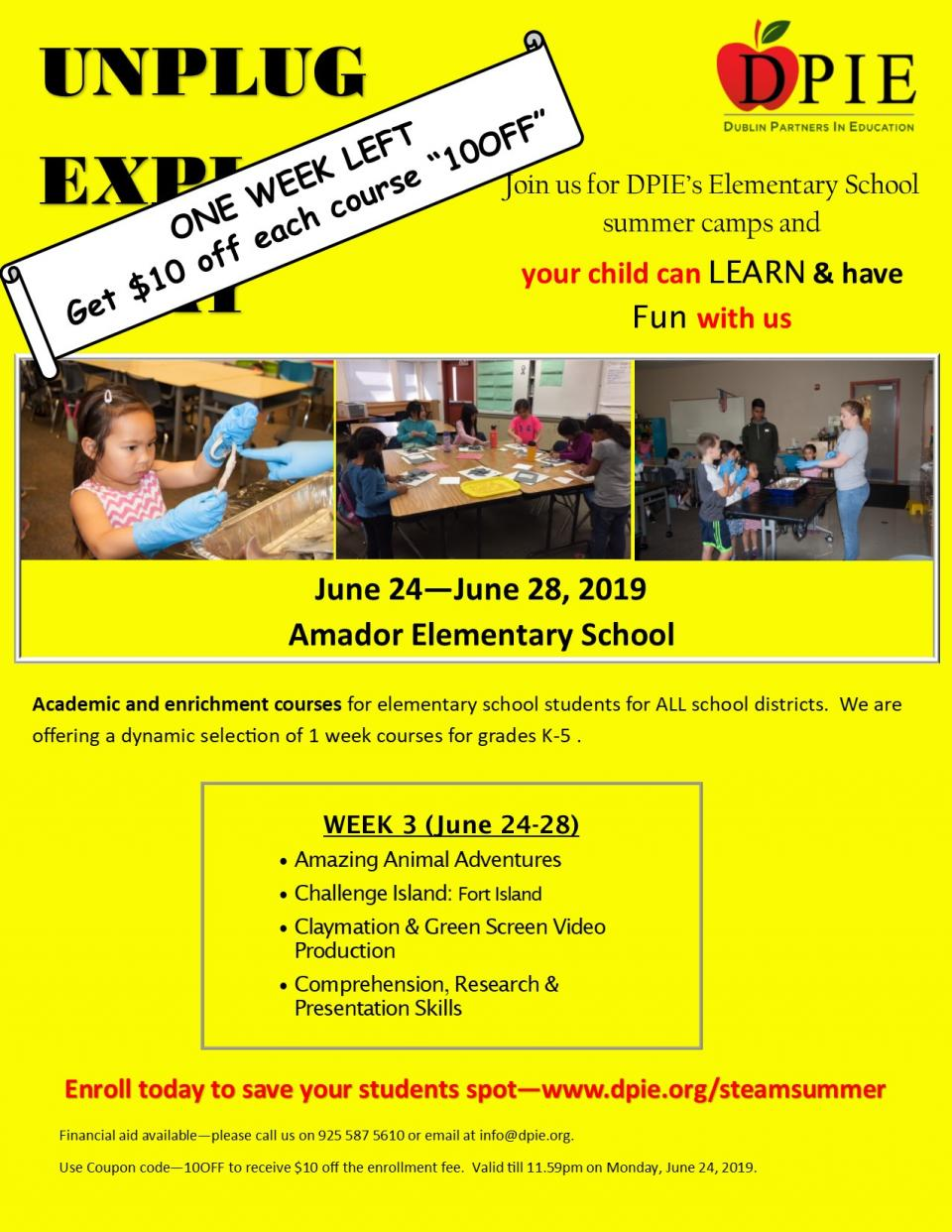 Amador Elementary Summer Camps