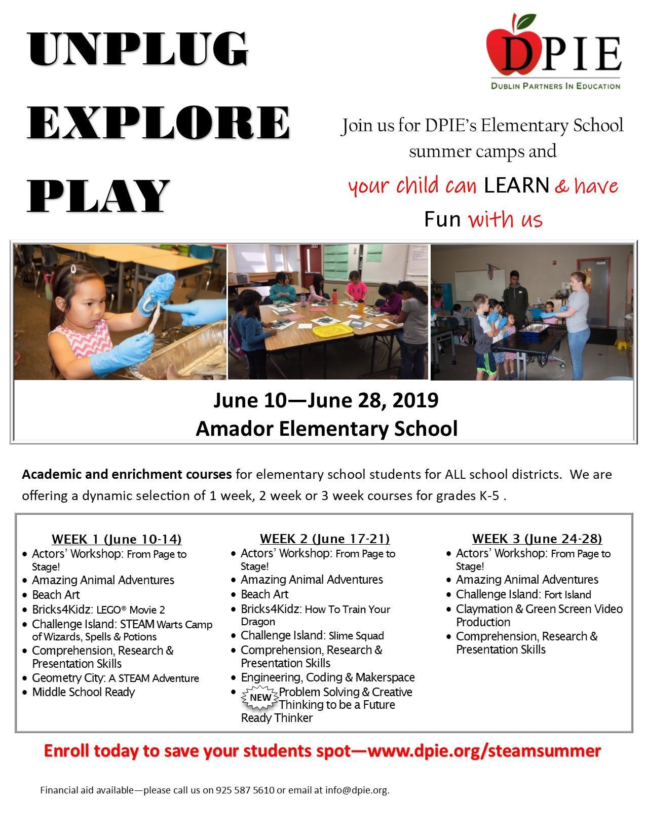 DPIE Elementary Summer Academy