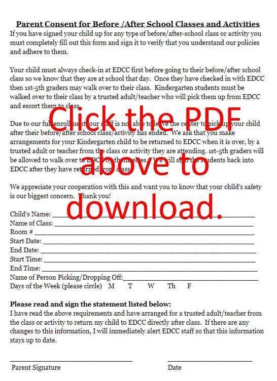 EDCC Parent Consent Form